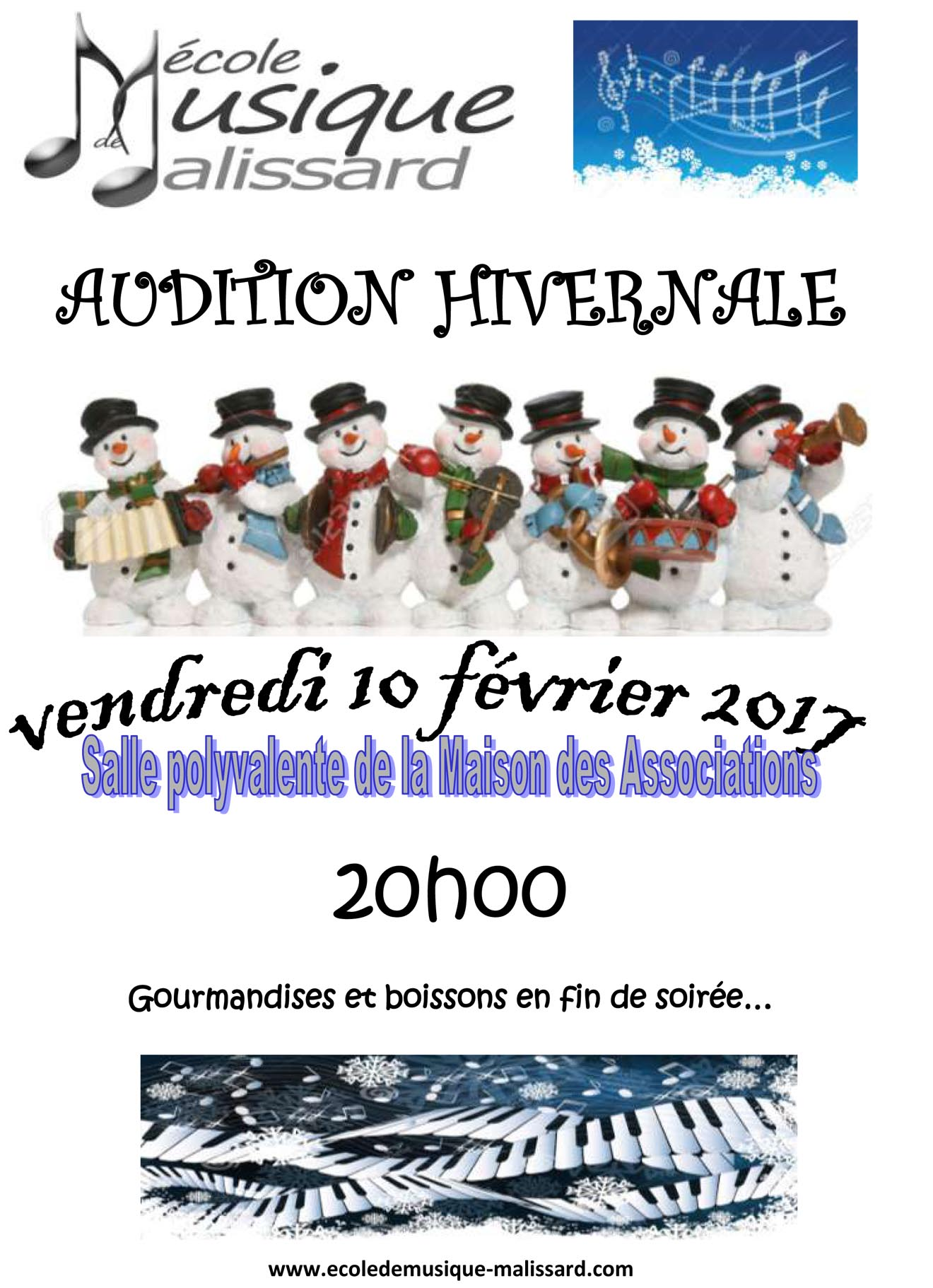affiche audition hivernale fev 2017