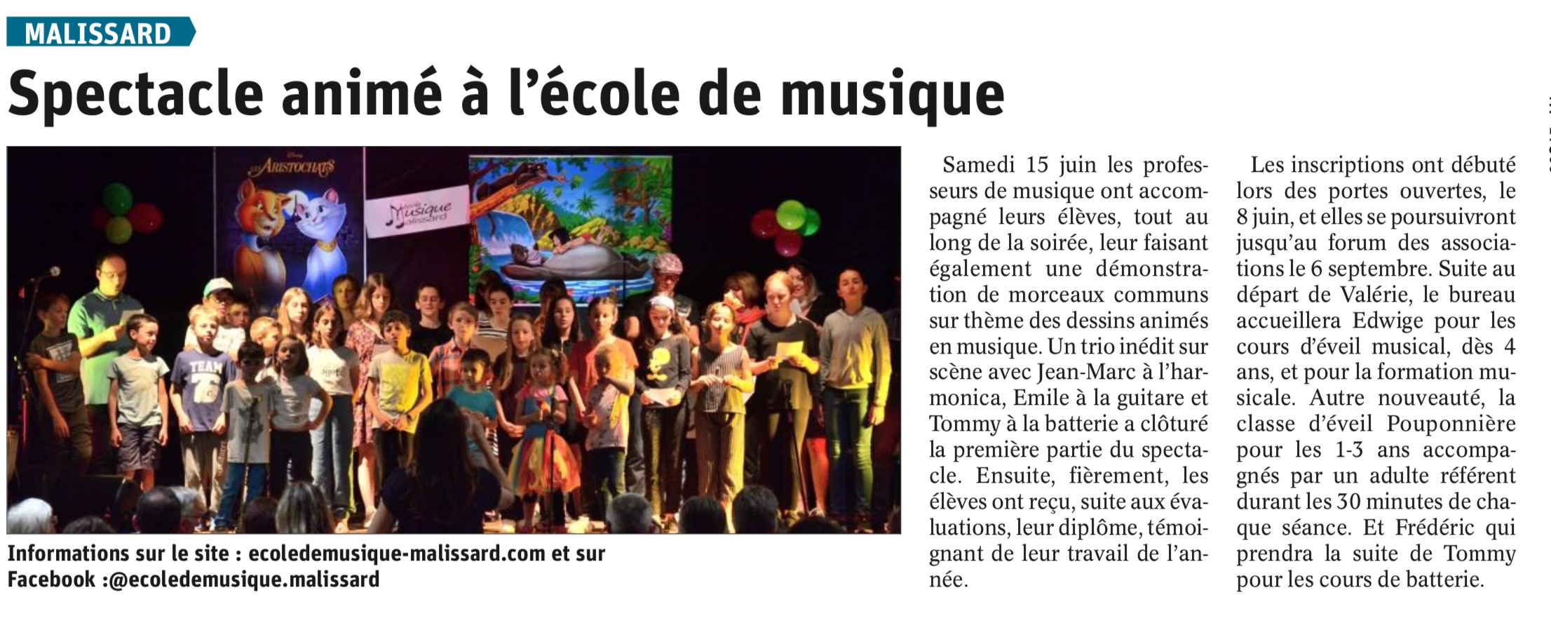 spectacle 15 juin 2019